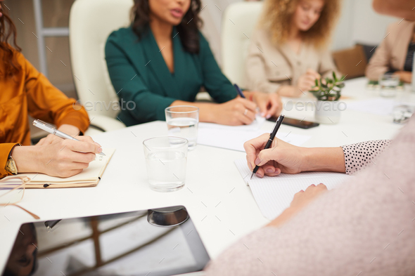 Unrecognizable Women Coworking In Office - Stock Photo - Images