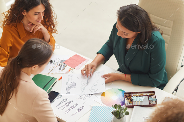 Young Fashion Designers Coworking - Stock Photo - Images