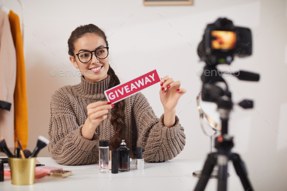 Social Media Influencer Giveaway - Stock Photo - Images