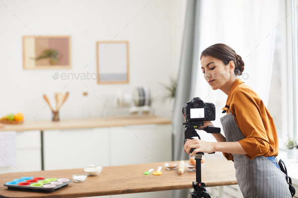 Filming Cooking Video - Stock Photo - Images