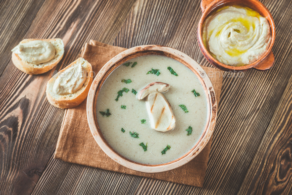 Creamy mushroom soup - Stock Photo - Images