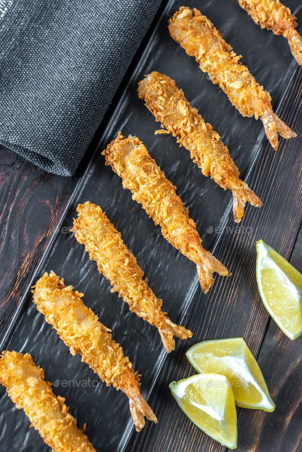 Shrimp tempura on the plate - Stock Photo - Images