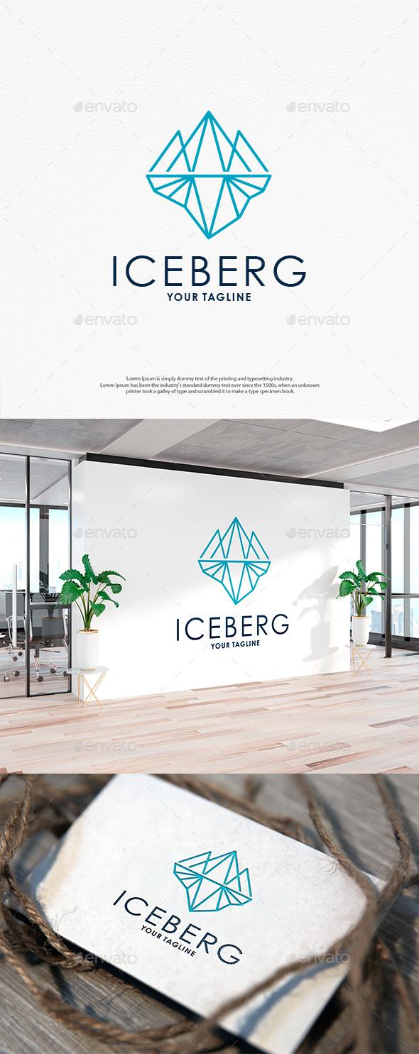 Iceberg Line Art Logo