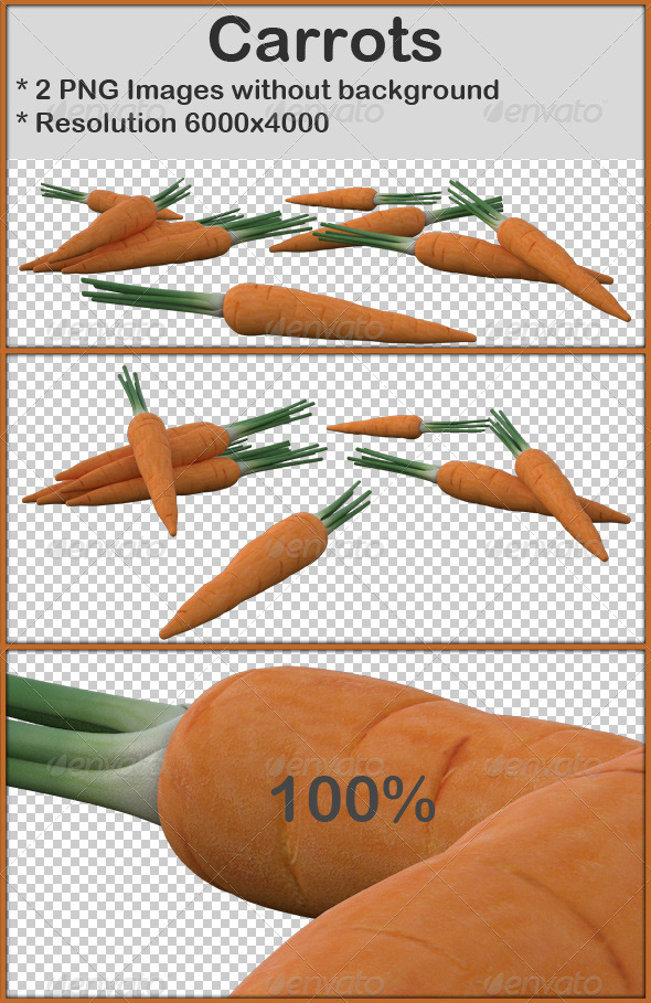 Carrots - 3D Renders Graphics