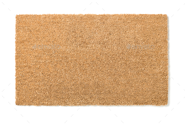 Blank Home Sweet Home Welcome Mat Isolated on White - Stock Photo - Images