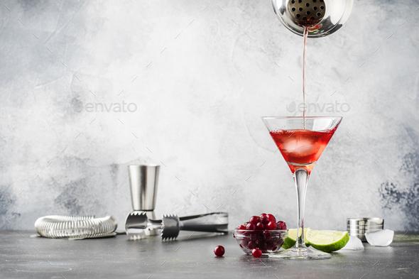 Preparation cosmopolitan cocktail - Stock Photo - Images