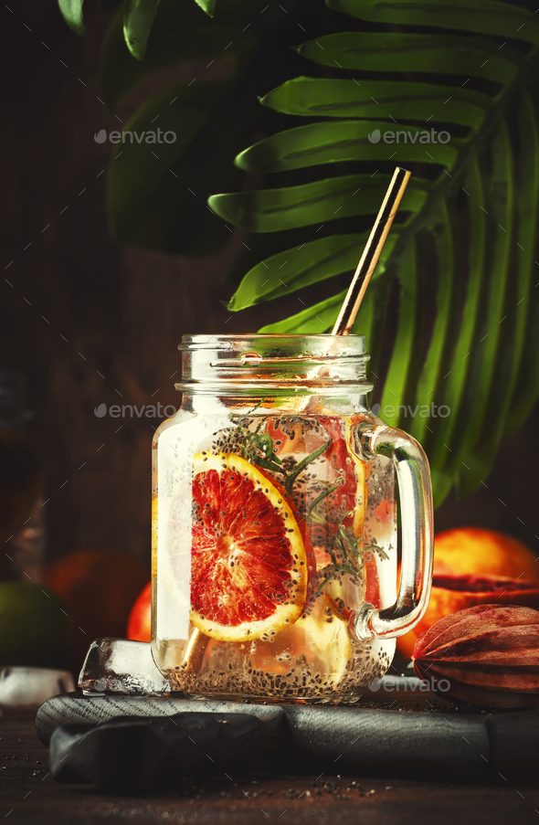 Summer cold detox drink - Stock Photo - Images