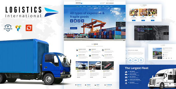 Logistics wordpress theme