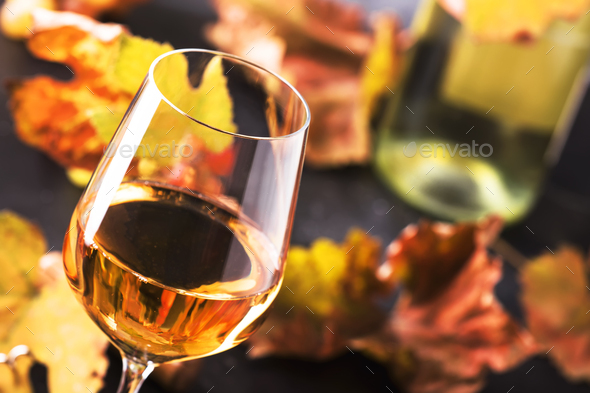 White wine glass - Stock Photo - Images