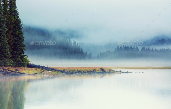 Lake in Oregon - Stock Photo - Images
