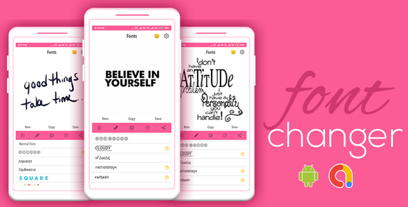 Font Changer   Android App   Admob Ads Include   Ready to Publish