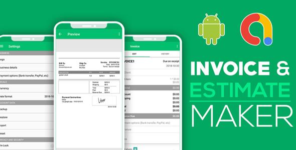 Invoice & Estimate Generator   Simple Invoice Manager   Invoice Estimate Receipt   Android Code