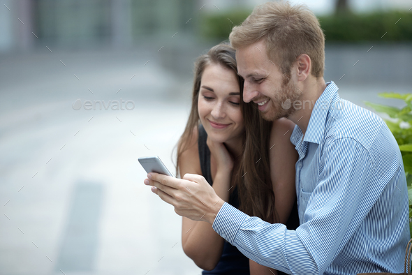 watching videos - Stock Photo - Images