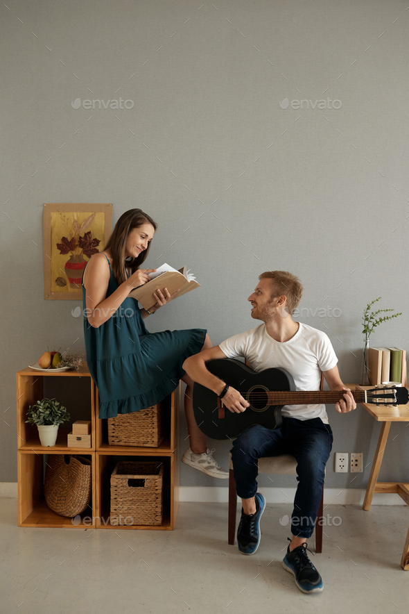Creative couple at home - Stock Photo - Images