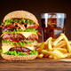 Burger with french fries and cola - PhotoDune Item for Sale