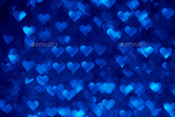 Abstract light, bokeh pattern in heart shape - Stock Photo - Images