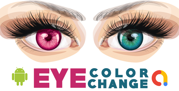 Eye color changer   Eye Lens Photo Editor   Stylish Selfie Eyes Color Changer   Android App   Admob