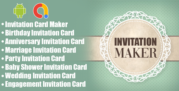 Invitation Card Maker   Greeting cards design   Android App   Admob Ads