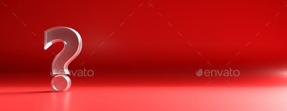 Exclamation mark on red background. 3d illustration - Stock Photo - Images
