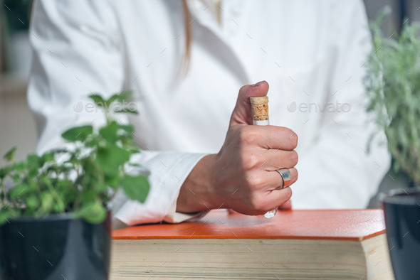 Homeopath. Homeopathic remedy preparation - Stock Photo - Images