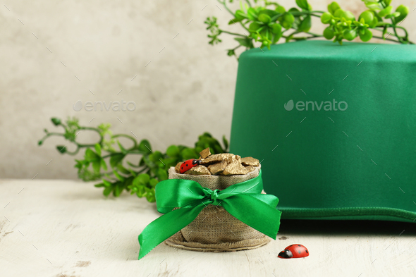 Hat and Gold for St. Patricks Day - Stock Photo - Images