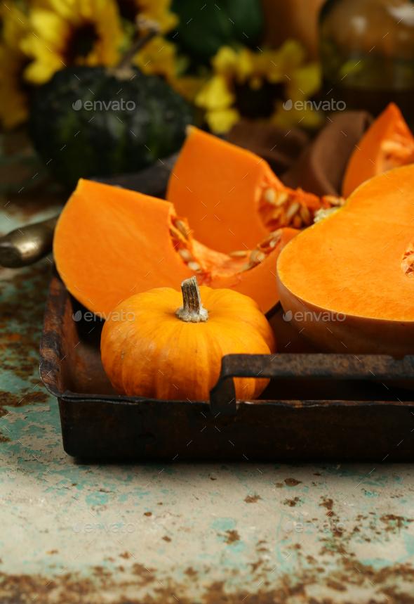 Natural Organic Pumpkins - Stock Photo - Images