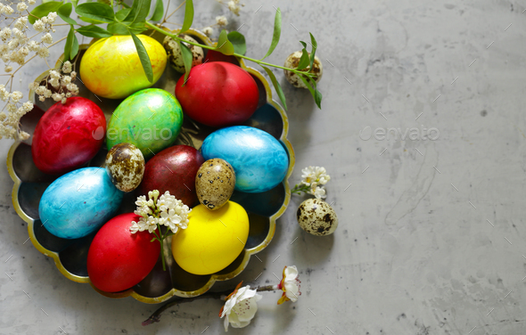 Easter Decorative Eggs - Stock Photo - Images