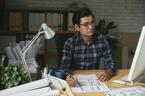 Professional architect - Stock Photo - Images