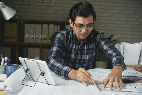 Working engineer - Stock Photo - Images