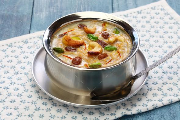 semiya payasam, indian vermicelli kheer with coconut milk - Stock Photo - Images