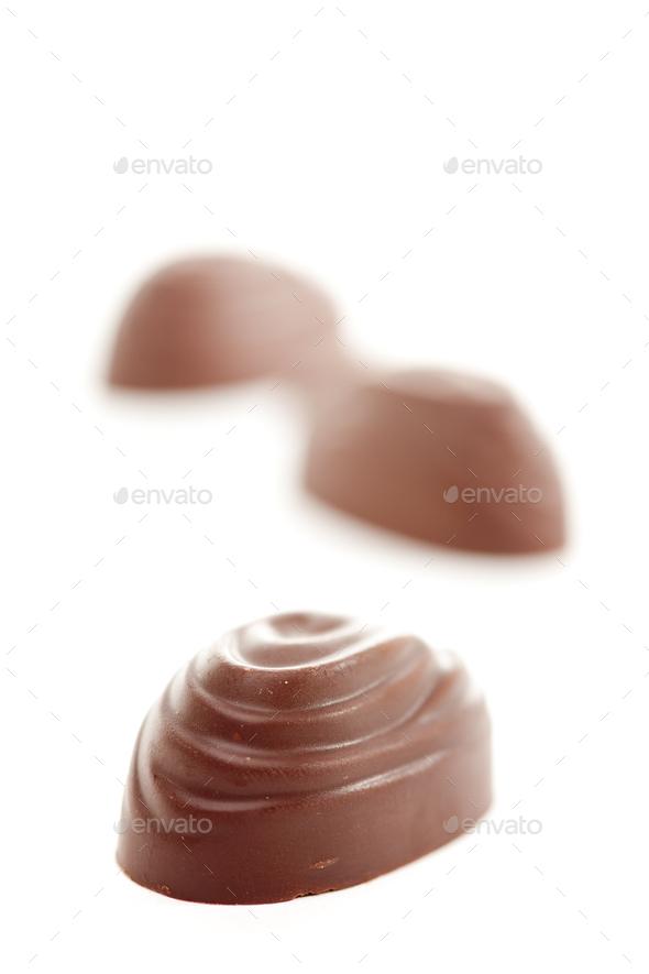 Chocolates on White - Stock Photo - Images