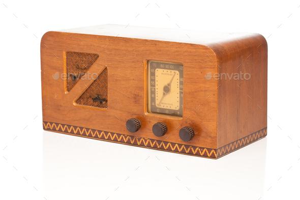 Vintage 1940's Radio - Stock Photo - Images