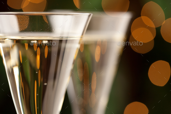 Champagne Glasses Abstract - Stock Photo - Images