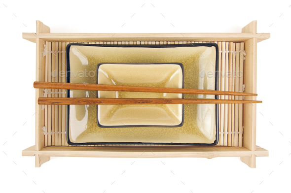 Abstract Chopsticks and Bowls - Stock Photo - Images