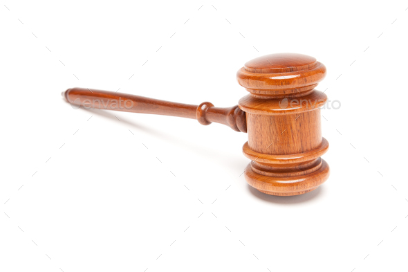 Gavel Isolated on White - Stock Photo - Images