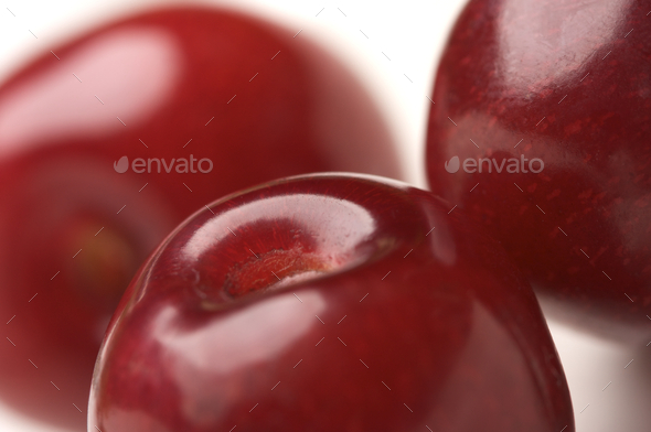 Macro Cherries - Stock Photo - Images