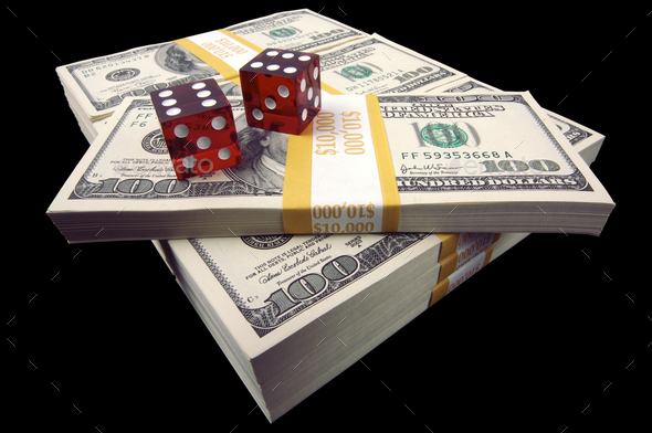 Hundred Dollar Bills & Dice - Stock Photo - Images