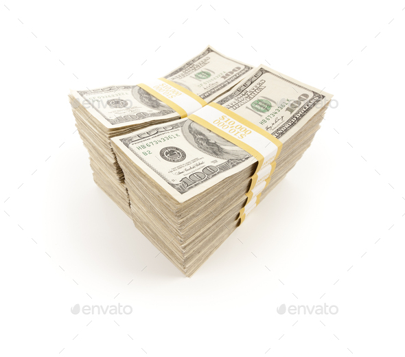 Stacks of One Hundred Dollar Bills - Stock Photo - Images