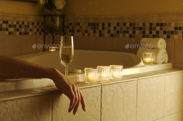 Woman in Bath - Stock Photo - Images