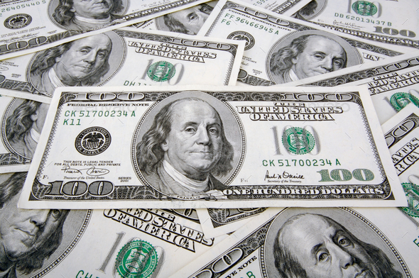 One Hundred Dollar Bills - Stock Photo - Images