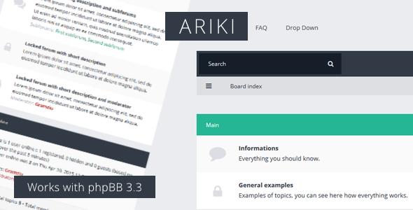 Ariki - phpBB3 Flat Theme