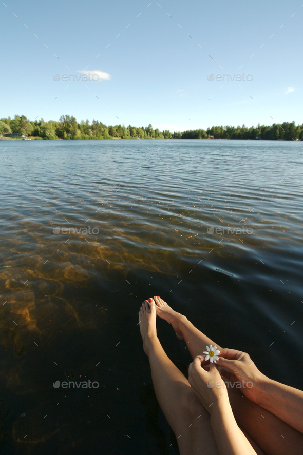 Relaxing on the Dock - Stock Photo - Images