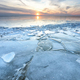 shelf ice on big frozen lake in winter - PhotoDune Item for Sale