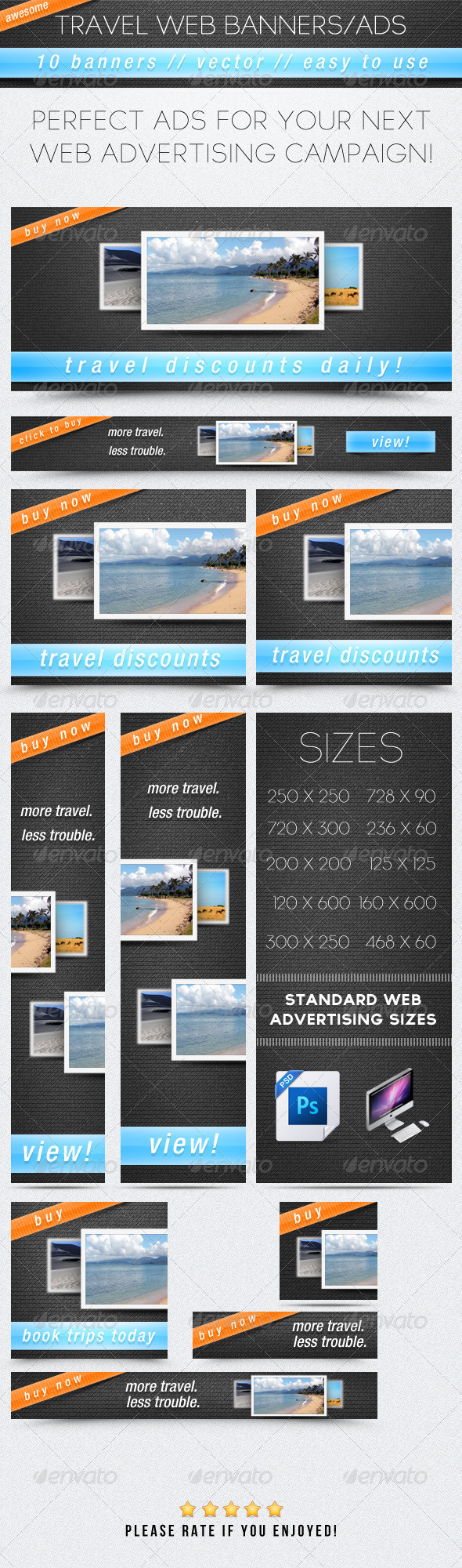 Travel Web Banners/Ads - Banners & Ads Web Elements