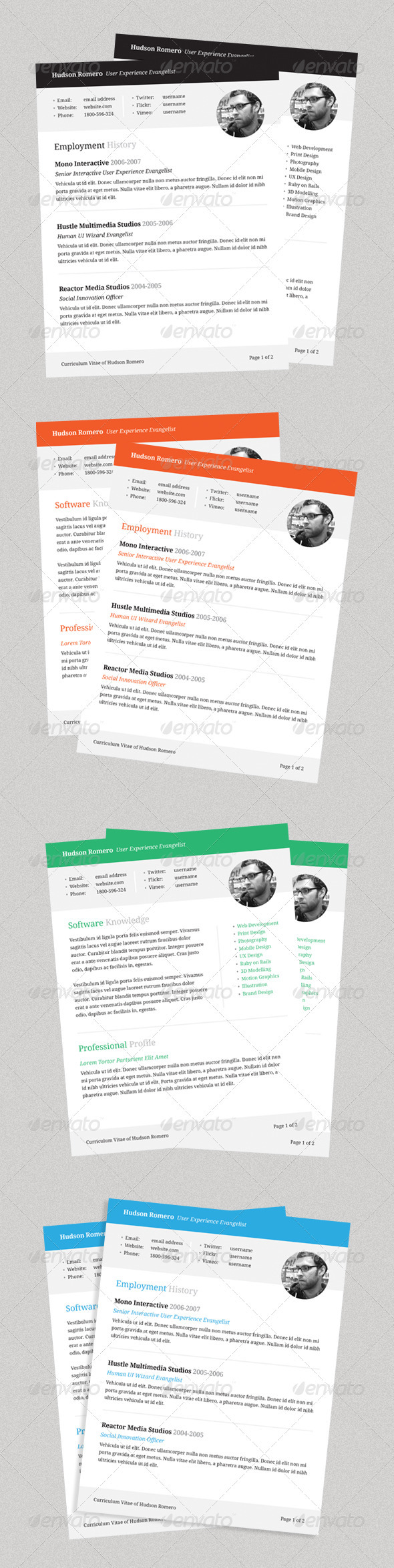 Connect - Resume Template - Resumes Stationery