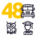 Education Line Icons - Robot Series