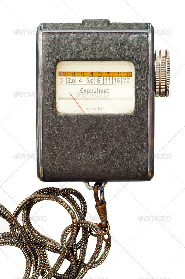 old exposure meter - Stock Photo - Images