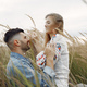 Very beautiful couple in a wheat field - PhotoDune Item for Sale