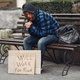 Homeless man in a durty clothes autumn city - PhotoDune Item for Sale