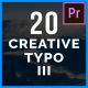 20 Creative Typo III - VideoHive Item for Sale